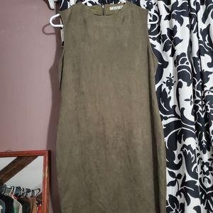 Chloe k green olive green dress